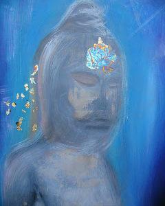 Meditating Blue by Elaine Kelly