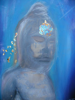 Meditating Blue by Elaine Kelly