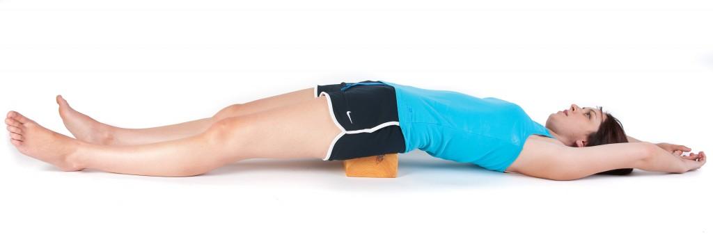 psoas stretch block