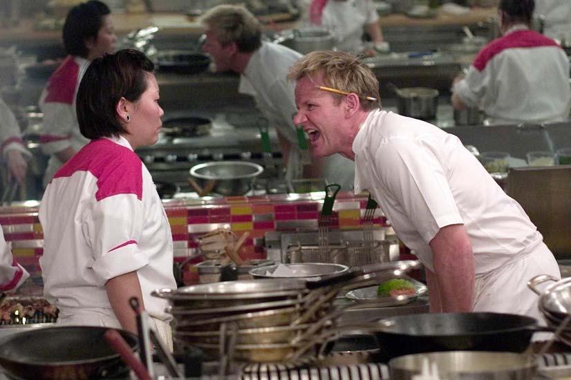 Tension in the kitchen - Gordon Ramsay