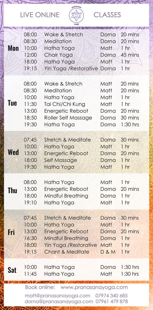 Claim Your Free Trial Yoga Class - Pranasana Yoga Latest Online Timetable